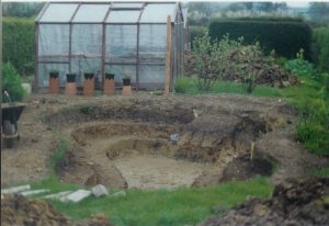 new pond dug out
