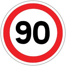 90 Km/h speed limit