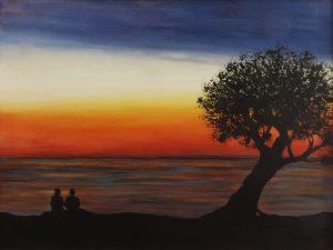 Lover's seascape